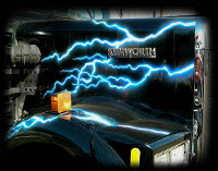 Blue Lightning on kenworth semitruck