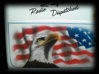 Eagle with Flag airbrushed on radio dispatch rig