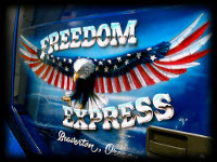 Freedom Express Eagle with flag wings Beaverton Oregon