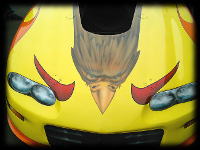 Yellow Race Car Custom Bird Graphics