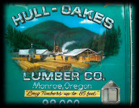 Hull Oakes Lumber Co Monroe Oregon Airbrushed
