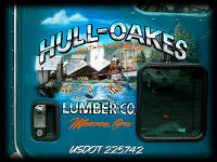 Blue Hull Oakes Monroe Oregon Door Lettering