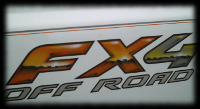 FX4 Off Road Lettering with effects