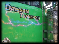 Dawson Transport Side View Custom Lettering