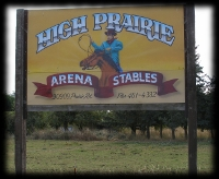 High Prairie custom painted sign