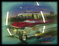 Drag Race Airbrush Mural on Hood