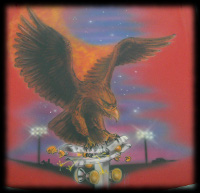 Custom eagle Mural on racing tree