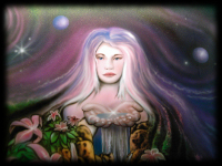 Fairy mural airbrushed on car hood